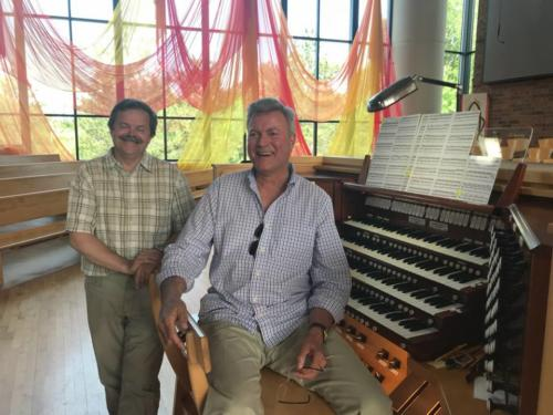 Bill Chouinard, great organist and a wonderful host