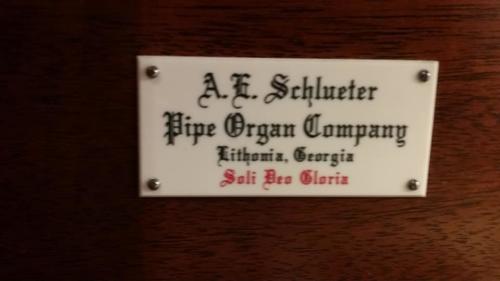 Organ Nameplate